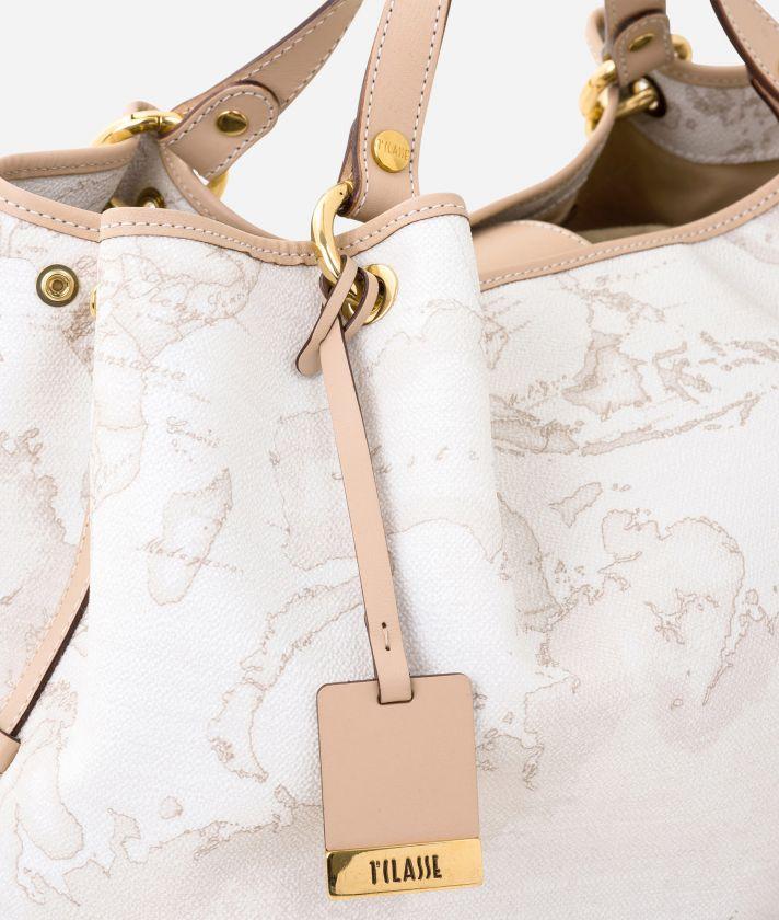 Geo White Large handbag